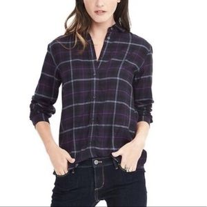Banana Republic Dillon purple flannel